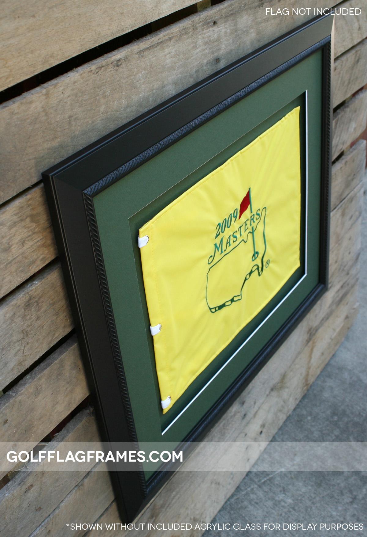 20×24 Black Frame To Hold 13×17 Golf Flag (Moulding Blk