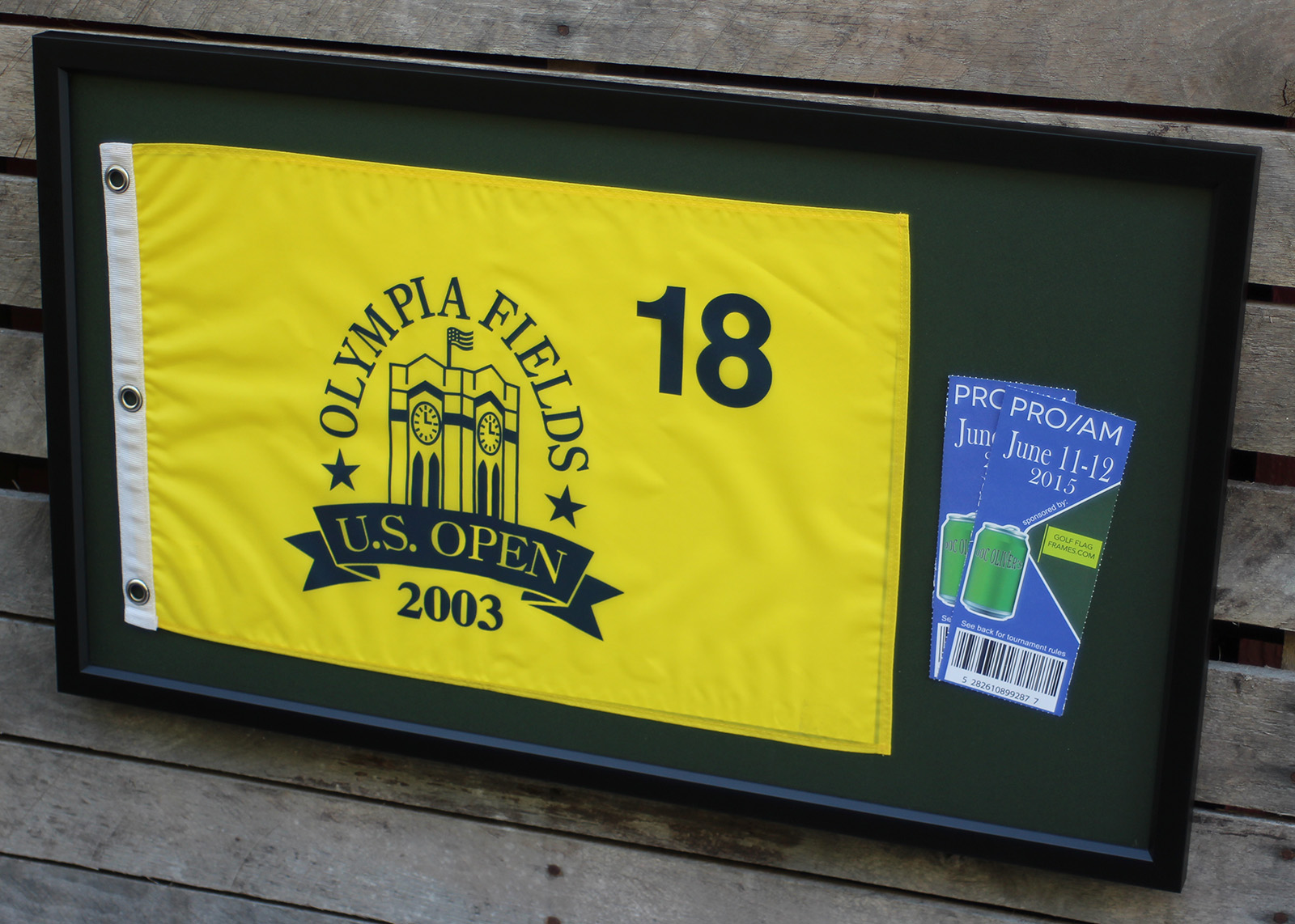 Golf Flag and Ticket Frame – GolfFlagFrames