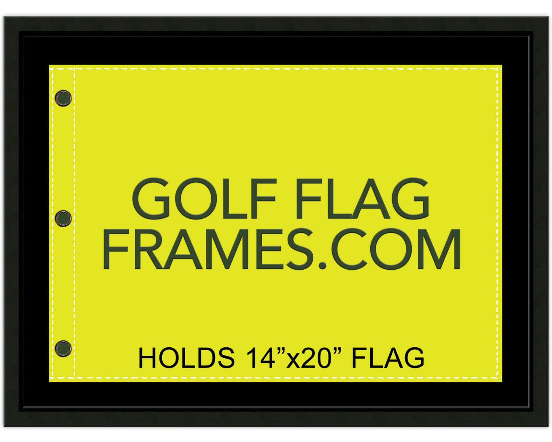 17 215 23 Black Frame To Hold 14 215 20 Golf Flag Moulding Blk