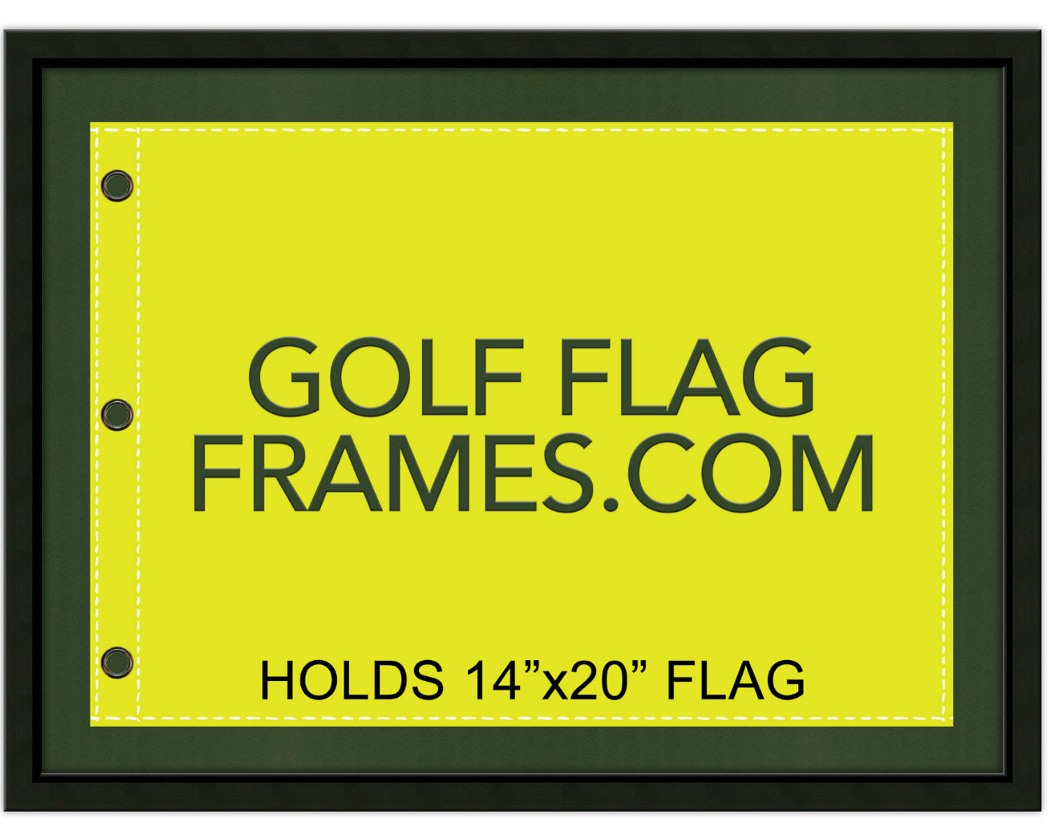 17 215 23 Black Frame To Hold 14 215 20 Golf Flag Moulding Blk