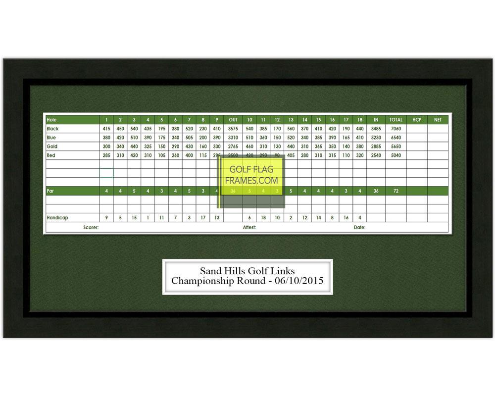 8 215 15 Golf Scorecard Frame Holds Up To 5 X12 Card Black