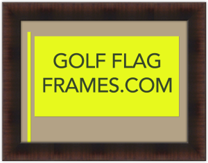 custom size flag frame brown moulding g25370