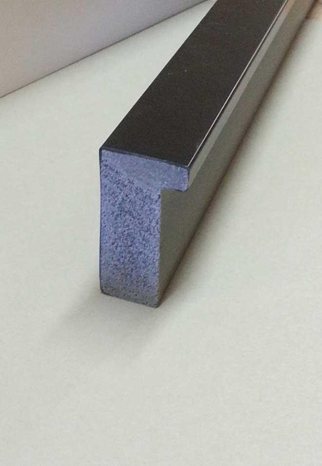 Custom Size Black Flag Frame Moulding Blk 005 Shadowbox