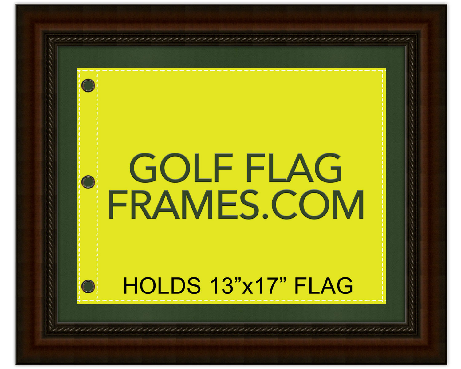16 215 20 Brown Frame To Hold 13 215 17 Golf Flag Moulding Brn