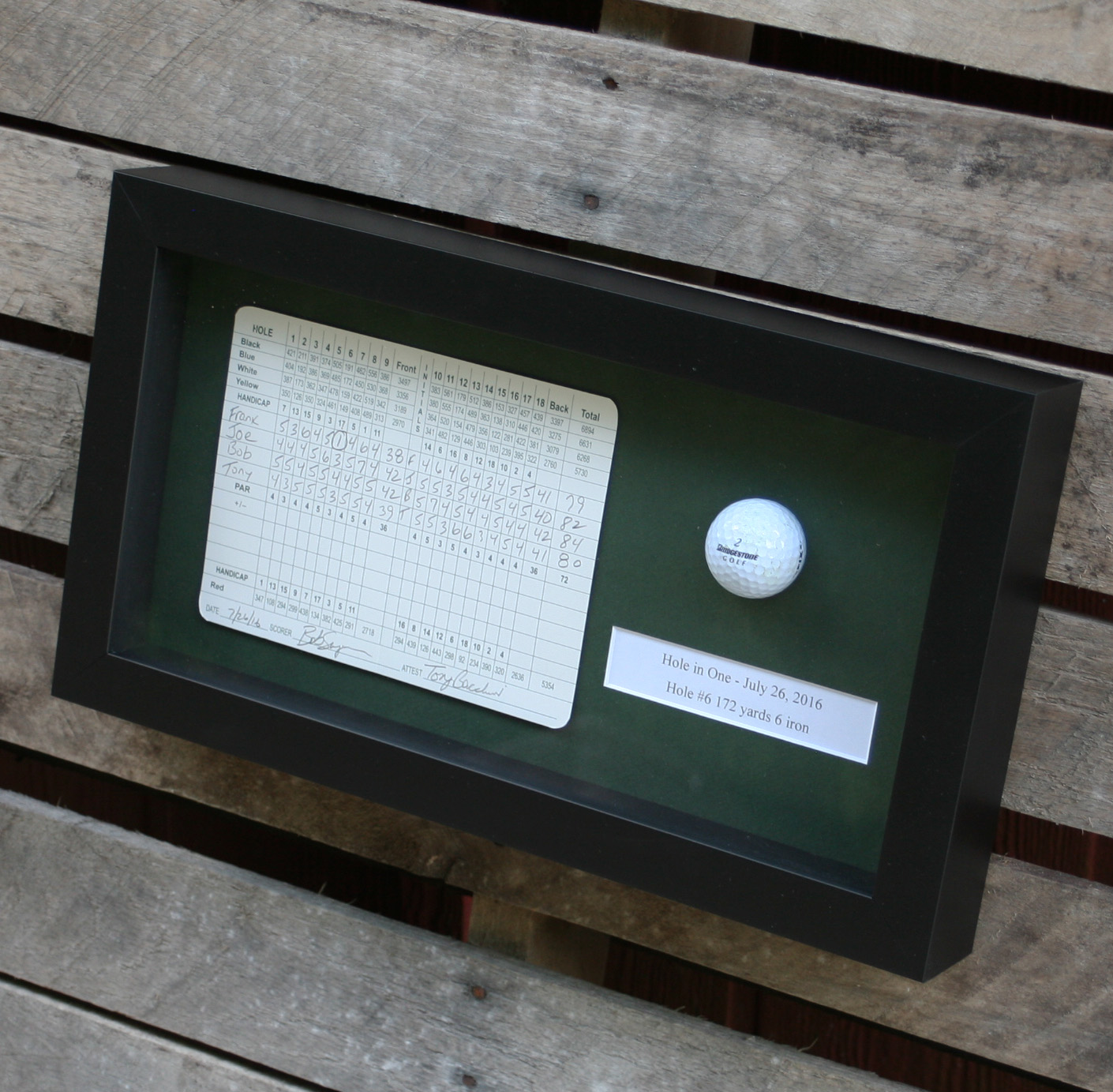 Use These High Quality Golf Scorecard Frames For Tournament Prizes A Hole In One Commemorative