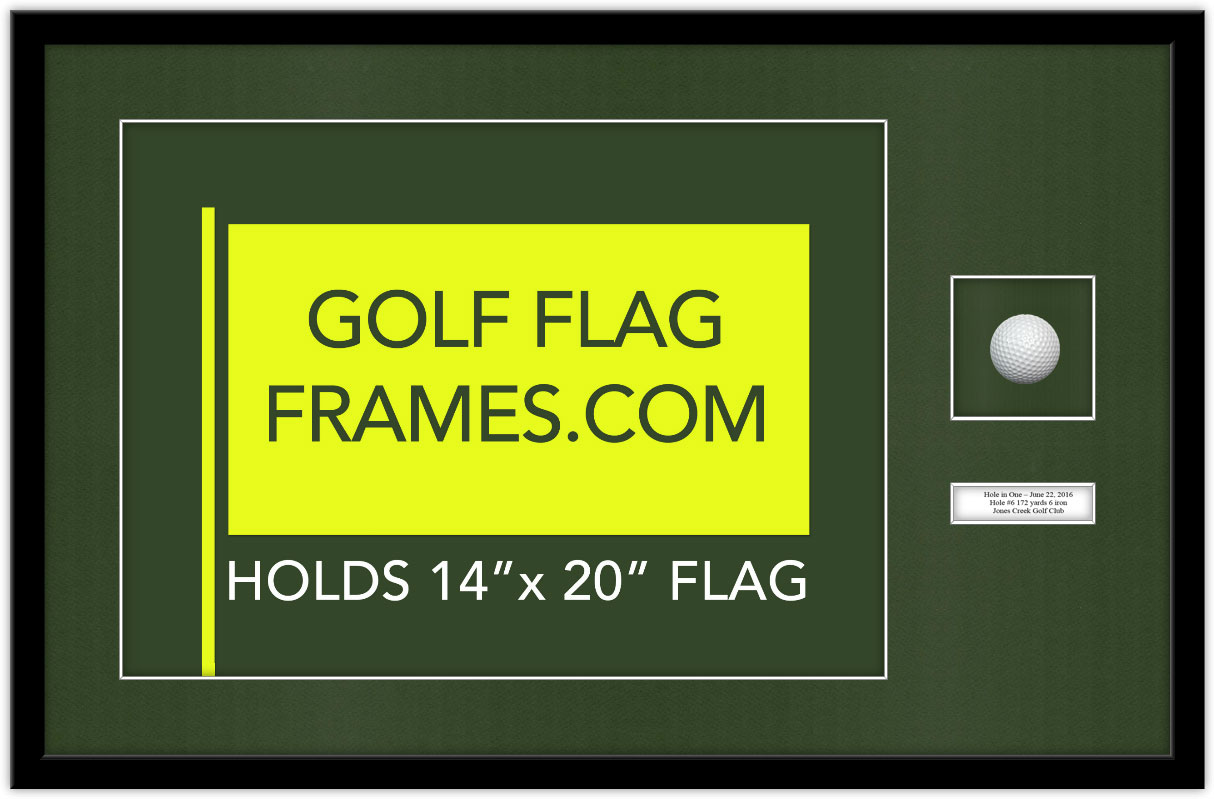 21X33 Black Frame to Hold 14×20 Flag with Ball and Verbiage ...