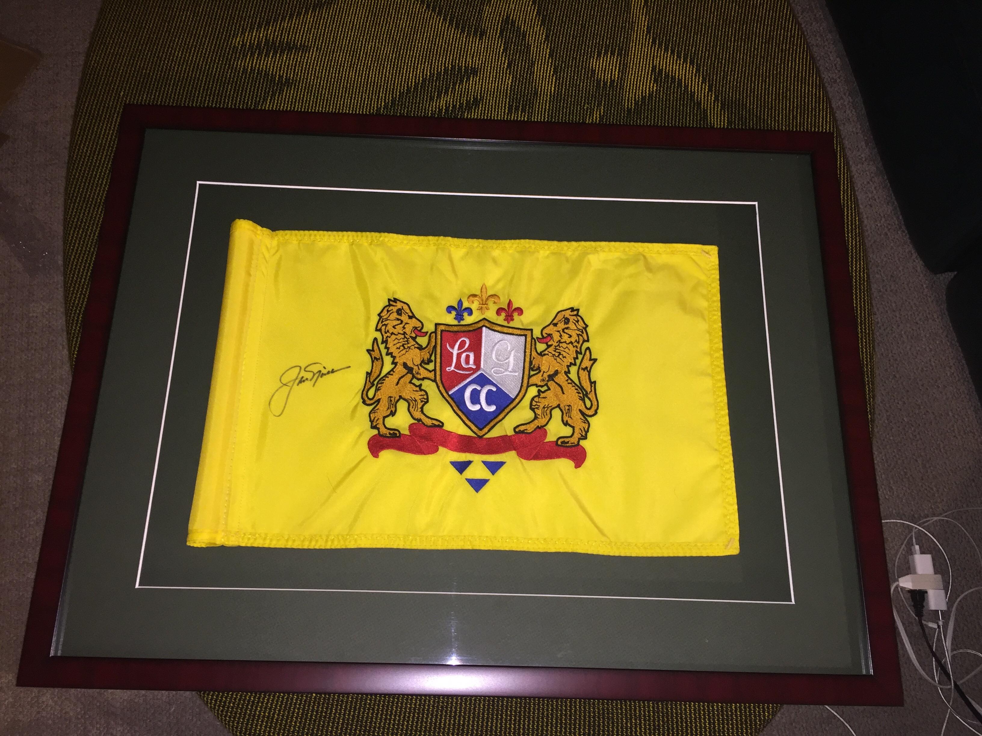 Custom Golf Flag Frame – Jack Nicklaus Signature – GolfFlagFrames