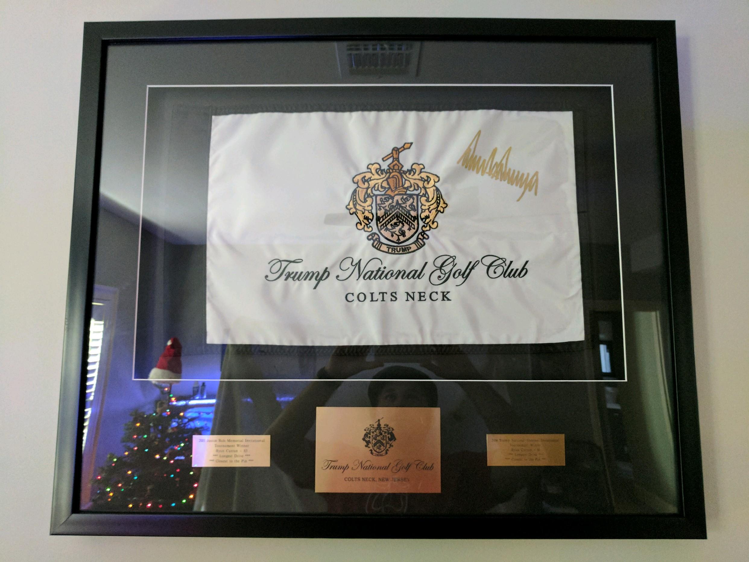 Custom Golf Flag Frame – Trump National Colts Neck – GolfFlagFrames