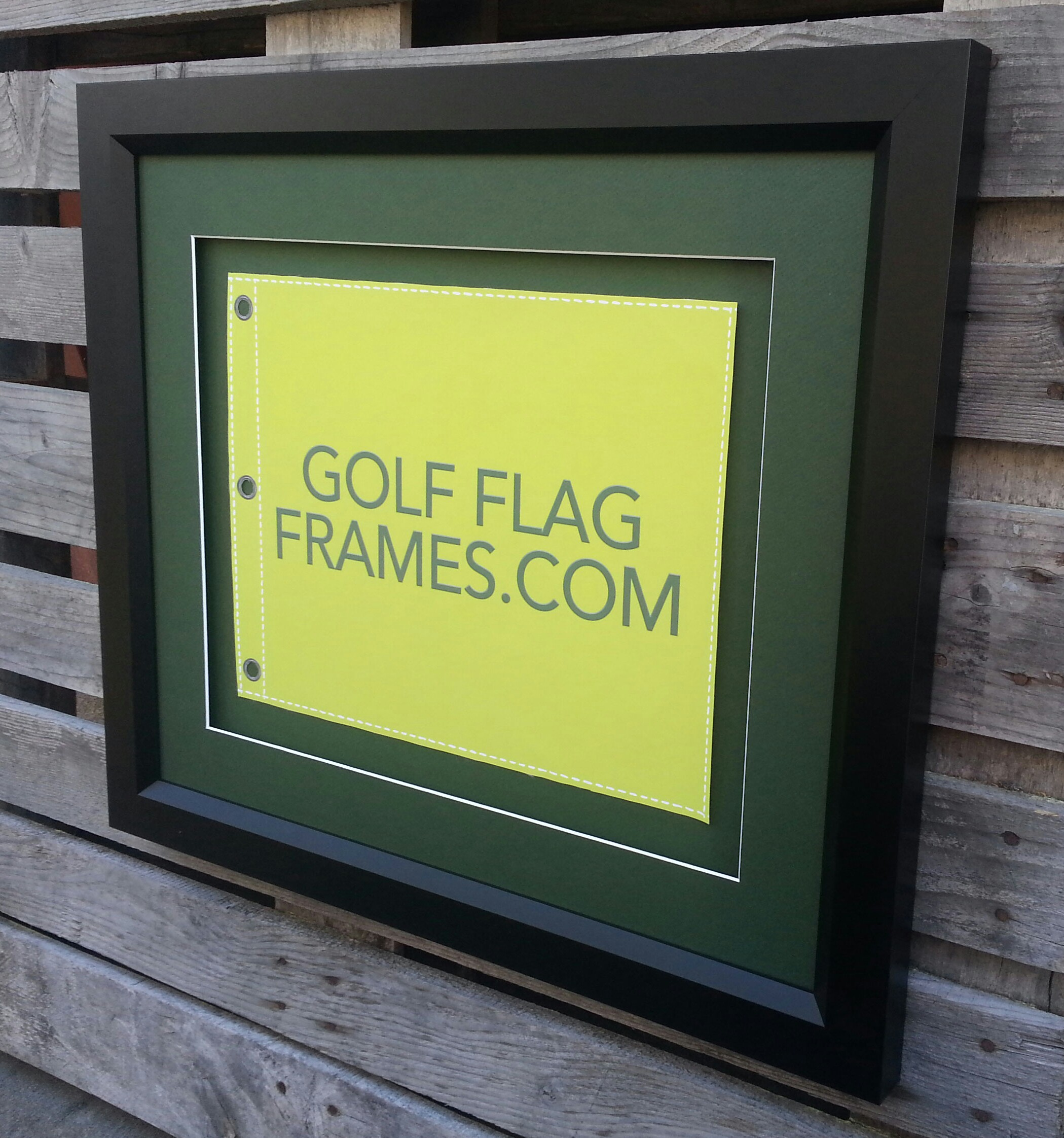 New Black Wood Golf Flag Frame – GolfFlagFrames