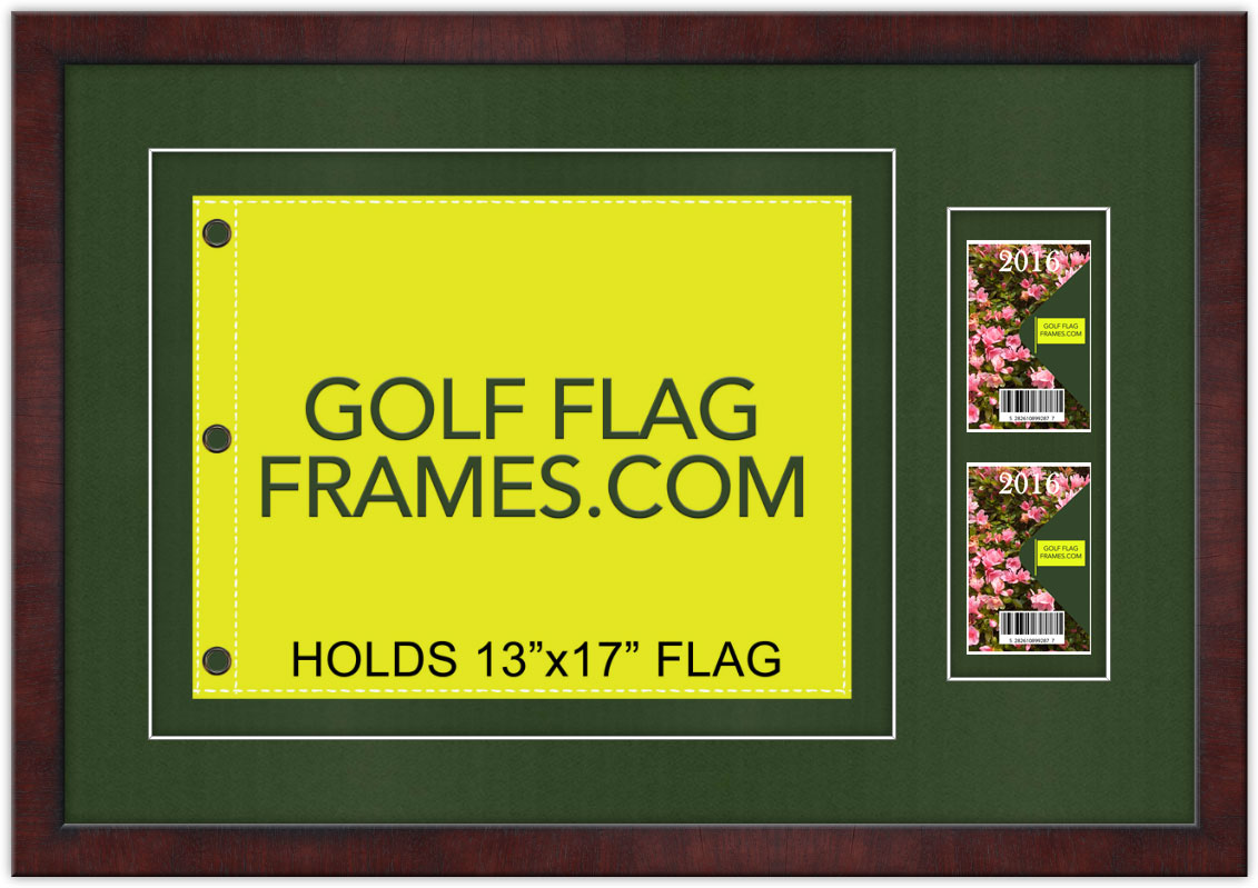 20×29.5 Brown Frame to Hold 13×17 Golf Flag and Tickets-Badges, brn ...